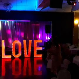 LED and Light Up Love Letter Hire